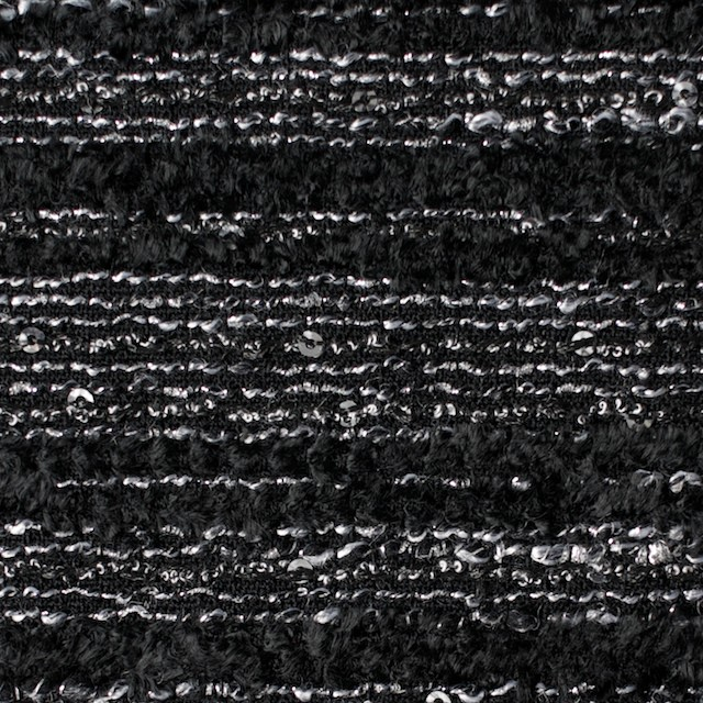 ウール&ラメ×ミックス(ブラック&シルバー)×ファンシーツイード イメージ1