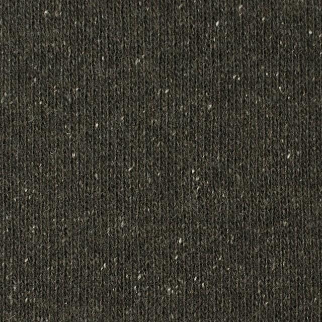 ウール&シルク混×無地(カーキグリーン)×天竺ニット イメージ1