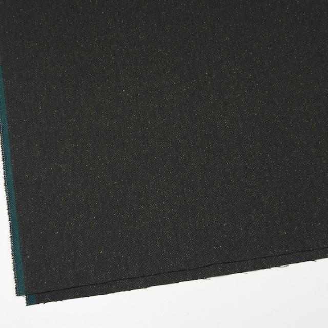 ポリエステル&ウール混×無地(モスグリーン)×ヘリンボーンストレッチ_イタリア製 イメージ2