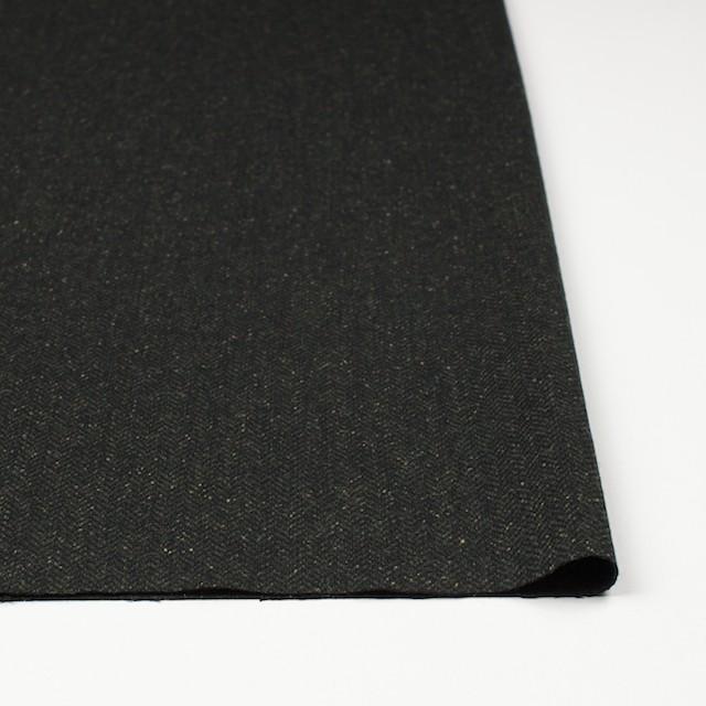 ポリエステル&ウール混×無地(モスグリーン)×ヘリンボーンストレッチ_イタリア製 イメージ3