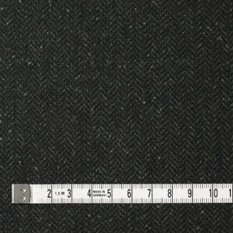 ポリエステル&ウール混×無地(モスグリーン)×ヘリンボーンストレッチ_イタリア製 サムネイル4