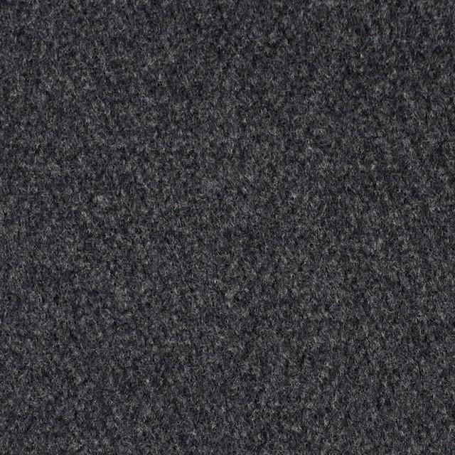 ウール×無地(チャコールグレー)×メルトン イメージ1