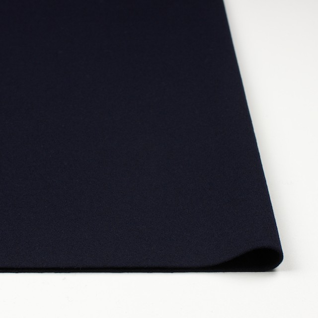ウール×無地(ダークネイビー)×メルトン イメージ3