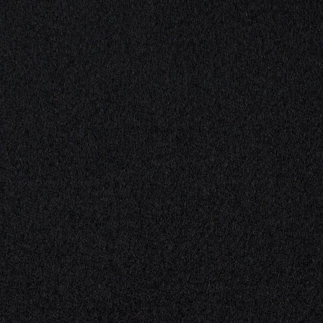 ウール×無地(ブラック)×メルトン イメージ1