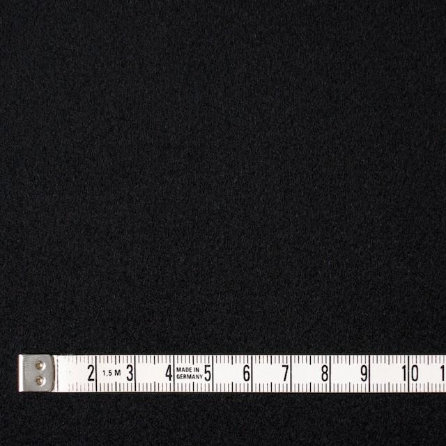 ウール×無地(ブラック)×メルトン イメージ4