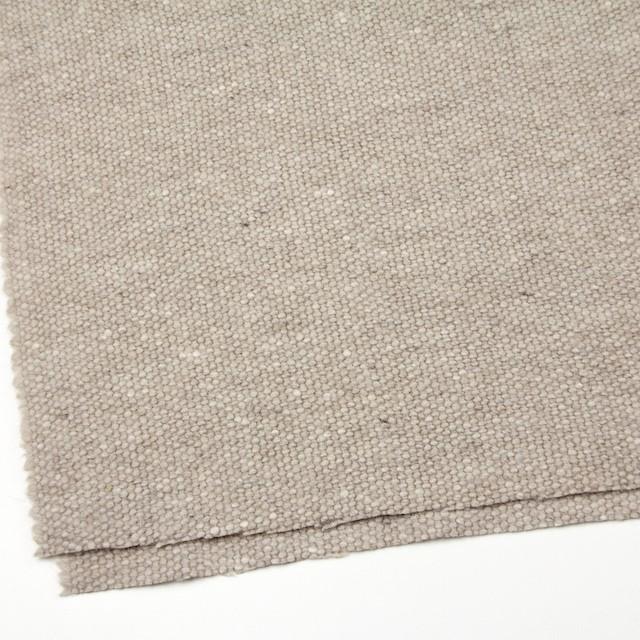 ウール&アンゴラ混×無地(ベージュミックス)×かわり織 イメージ2