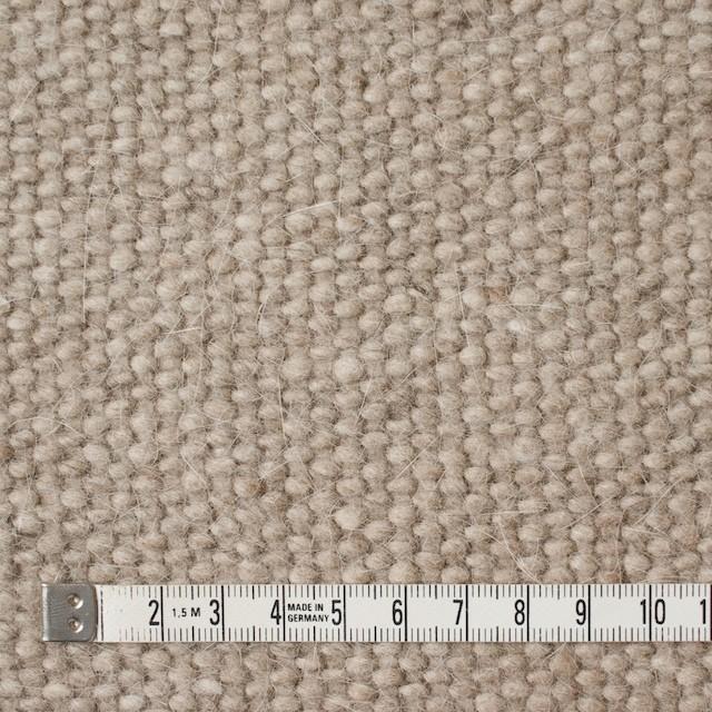 ウール&アンゴラ混×無地(ベージュミックス)×かわり織 イメージ4