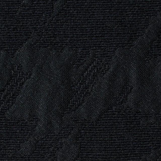 ウール×幾何学模様(ブラック)×風通織ジャガード イメージ1