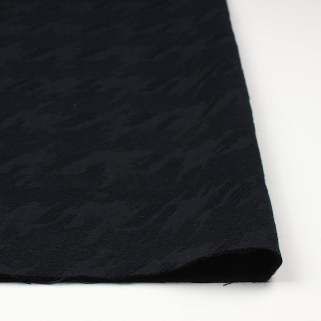 ウール×幾何学模様(ブラック)×風通織ジャガード イメージ3