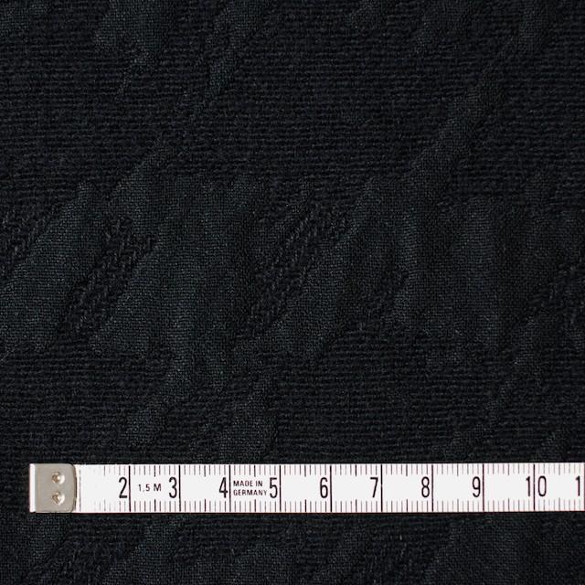 ウール×幾何学模様(ブラック)×風通織ジャガード イメージ4
