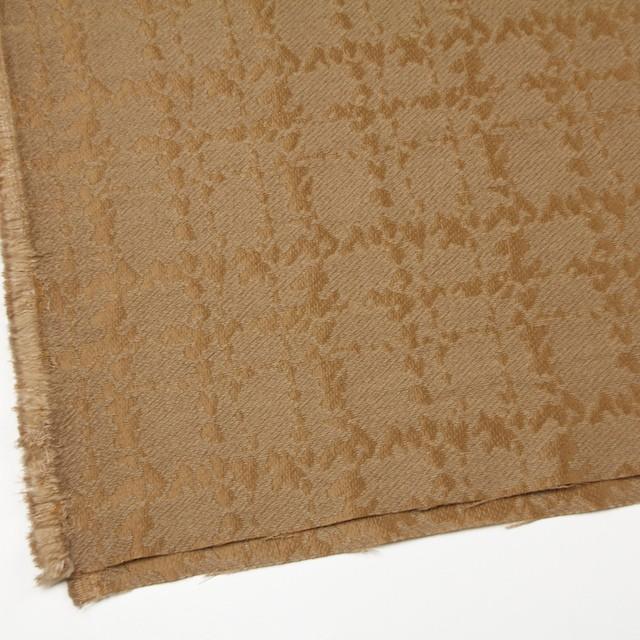 ウール&キュプラ×幾何学模様(アンティークゴールド)×ジャガード_全2色 イメージ2