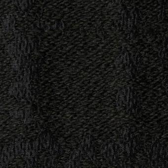 ウール&キュプラ×幾何学模様(ブラック)×ジャガード_全2色 サムネイル1