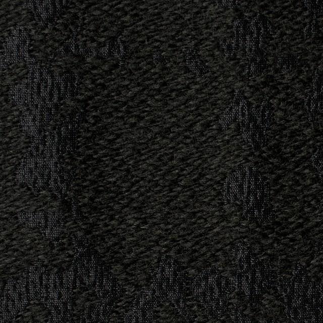 ウール&キュプラ×幾何学模様(ブラック)×ジャガード_全2色 イメージ1