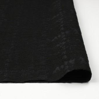 ウール&キュプラ×幾何学模様(ブラック)×ジャガード_全2色 サムネイル3