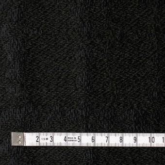 ウール&キュプラ×幾何学模様(ブラック)×ジャガード_全2色 サムネイル4
