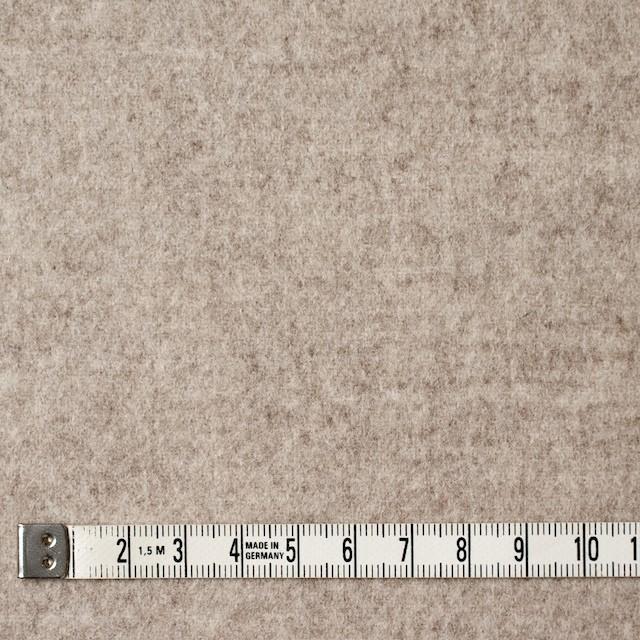 ウール×無地(オートミール&アイボリー)×Wフェイスビーバー_全3色 イメージ4