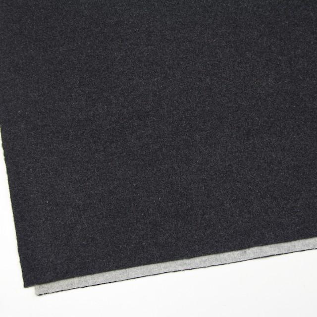 ウール×無地(チャコールグレー&ライトグレー)×Wフェイスビーバー_全3色 イメージ2