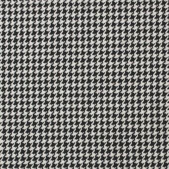 ウール×チェック(アイボリー&ブラック)×千鳥格子 サムネイル1