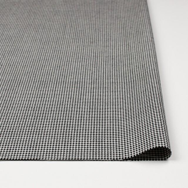 ウール×チェック(アイボリー&ブラック)×千鳥格子 イメージ3