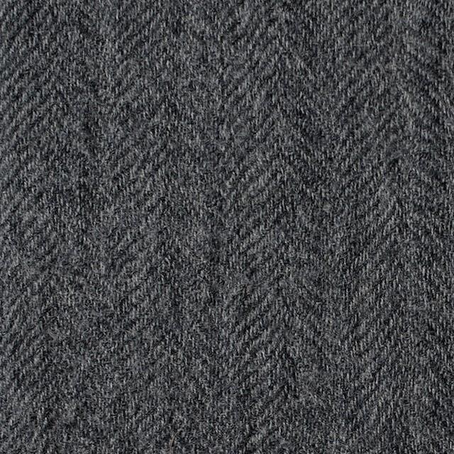 ウール×無地(グレー)×ヘリンボーンガーゼ イメージ1