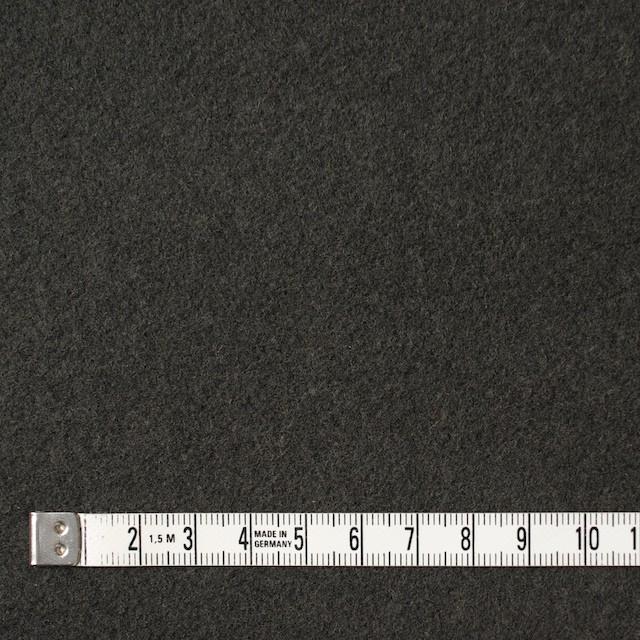 ウール×無地(オリーブグリーン)×メルトン イメージ4