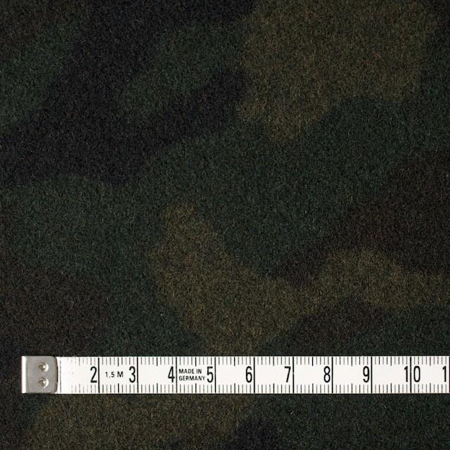 ウール&ポリエステル×迷彩(カーキミックス)×フラノ(フランネル) イメージ4