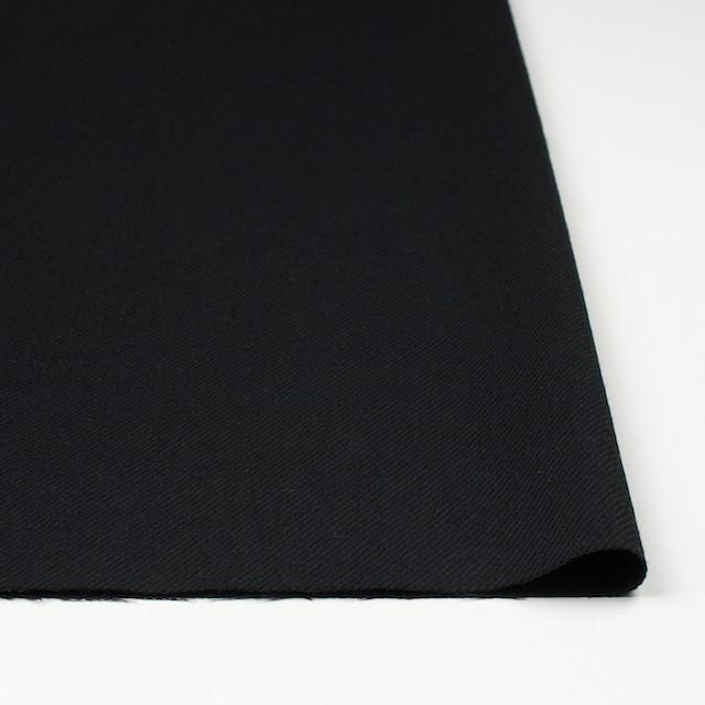 ウール×無地(ブラック)×サキソニー イメージ3