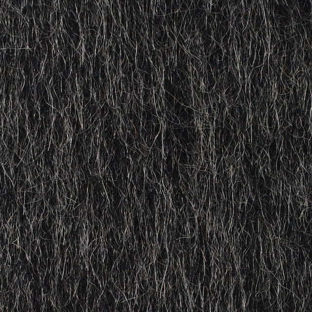 ウール×無地(チャコールグレー)×シャギー イメージ1