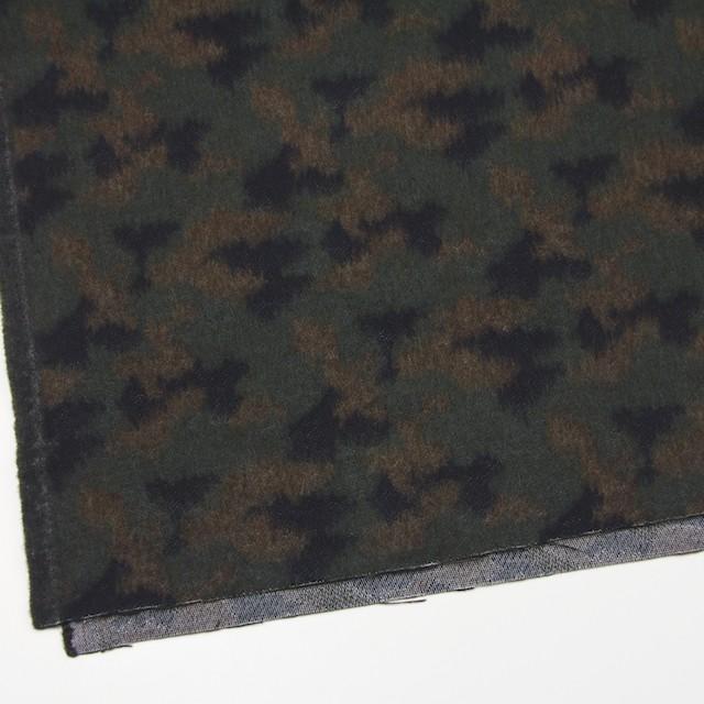 ウール&ポリエステル混×幾何学模様(グリーンミックス)×ビーバージャガード_全2色 イメージ2