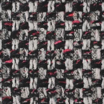ウール&ナイロン×ミックス(シルバー&ブラック)×ファンシーツイード_イタリア製 サムネイル1