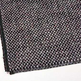 ウール&ナイロン×ミックス(シルバー&ブラック)×ファンシーツイード_イタリア製 サムネイル2