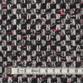 ウール&ナイロン×ミックス(シルバー&ブラック)×ファンシーツイード_イタリア製 サムネイル4