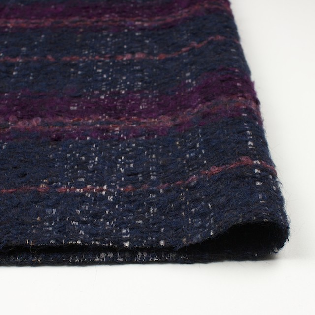 ウール&シルク×ミックス(パープル)×ファンシーツイード_全2色_イタリア製 イメージ3