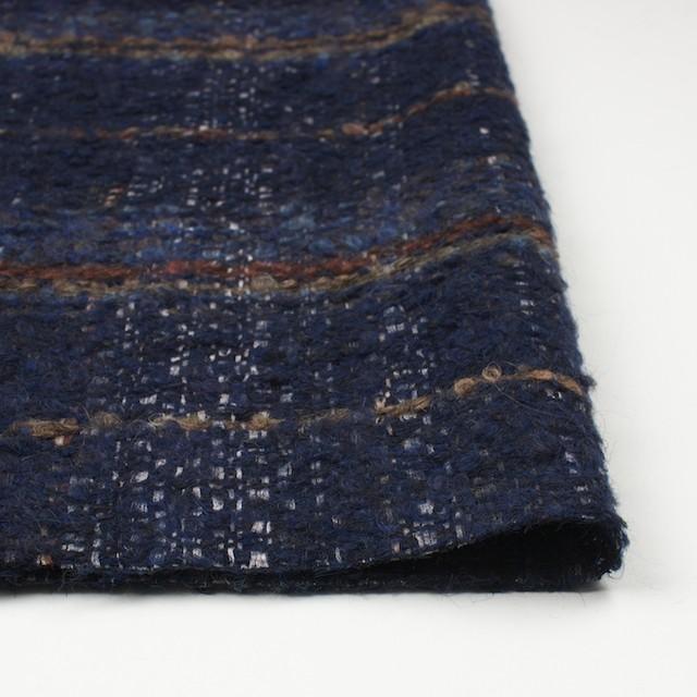 ウール&シルク×ミックス(ブルー)×ファンシーツイード_全2色_イタリア製 イメージ3