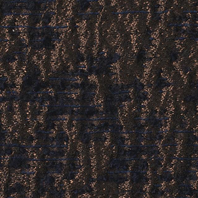 ポリエステル&ウール混×幾何学模様(アンティークゴールド)×ジャガード イメージ1