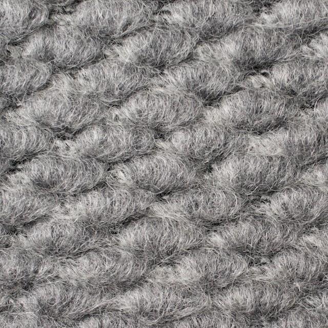 ウール&ポリエステル×無地(シルバーグレー)×ループニット_イタリア製 イメージ1