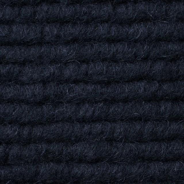 ウール&モヘア混×無地(ダークネイビー)×ループニット_イタリア製 イメージ1