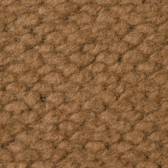 ポリエステル&ウール混×無地(キャメル)×ループニット_全2色_イタリア製 イメージ1