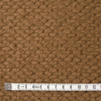ポリエステル&ウール混×無地(キャメル)×ループニット_全2色_イタリア製 サムネイル4