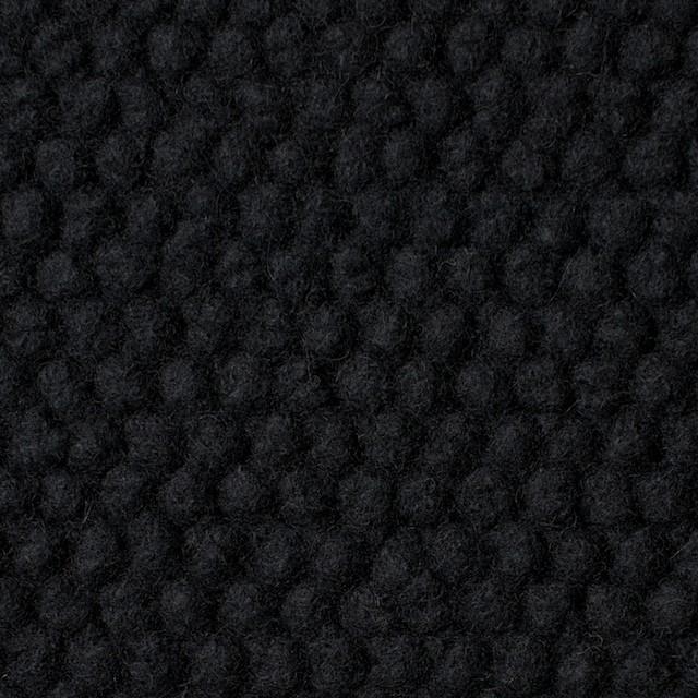 ウール&ポリエステル×無地(ブラック)×ループニット イメージ1