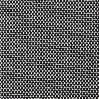 ウール&ポリエステル混×無地(シルバー&ブラック)×バーズアイ・ストレッチ サムネイル1