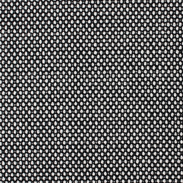 ウール&ポリエステル混×無地(シルバー&ブラック)×バーズアイ・ストレッチ イメージ1