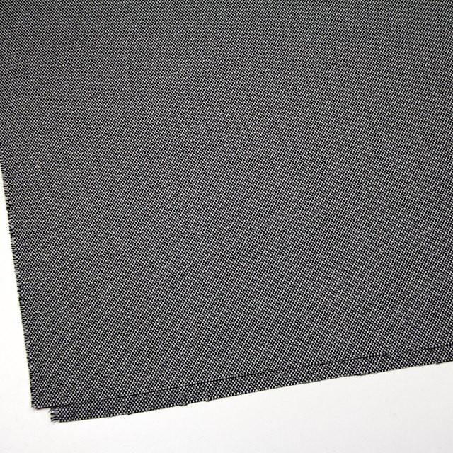 ウール&ポリエステル混×無地(シルバー&ブラック)×バーズアイ・ストレッチ イメージ2