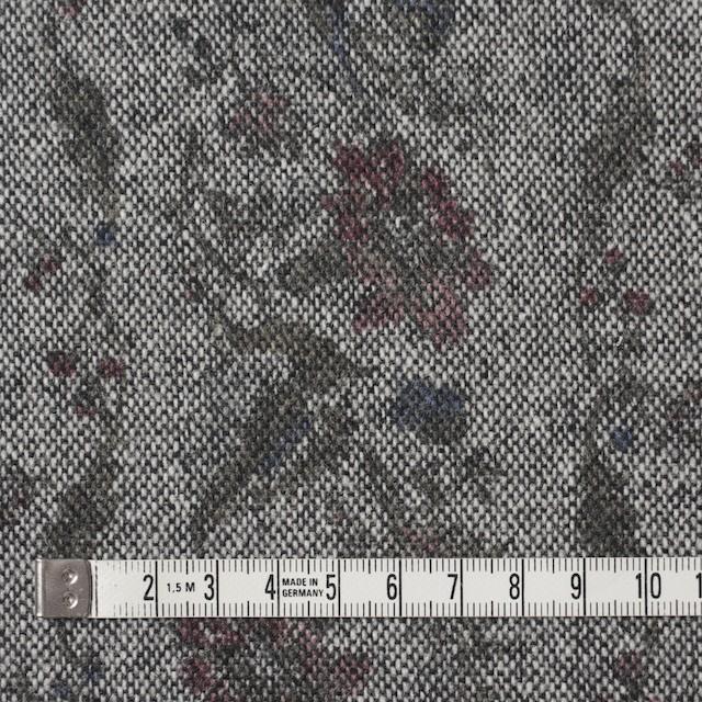 ウール&ポリエステル×フラワー(チャコール)×ツイード イメージ4