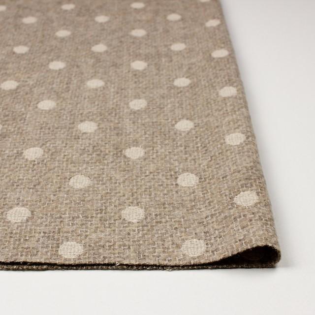 アクリル&ウール混×ドット(オートミール)×ファンシーツイード刺繍_イタリア製 イメージ3
