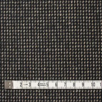 ウール&ポリエステル混×ステッチ(ベージュ&チャコールグレー)×ツイードストレッチ サムネイル4