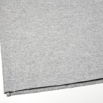 ウール&ナイロン×無地(ライトグレー)×圧縮天竺ニット サムネイル2