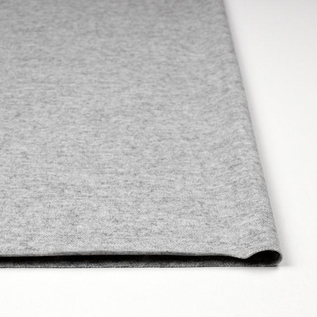 ウール&ナイロン×無地(ライトグレー)×圧縮天竺ニット イメージ3