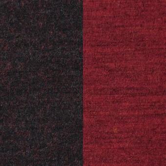 ウール&ナイロン×無地(レッド&チャコールグレー)×Wフェイス天竺ニット サムネイル1