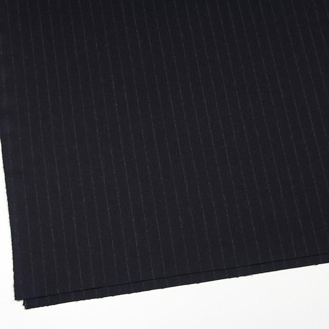ウール×ストライプ(ブラック)×サージ イメージ2
